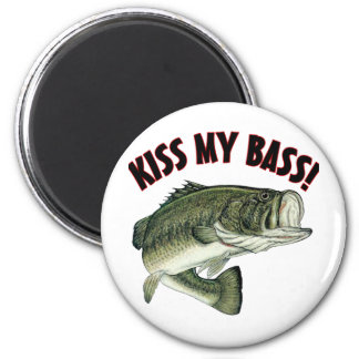 Kiss My Bass 2 Inch Round Magnet