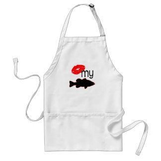 KISS MY BASS ADULT APRON