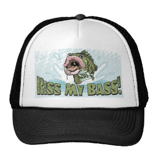 Kiss My Bass Big Mouth Fish Gear Mesh Hat