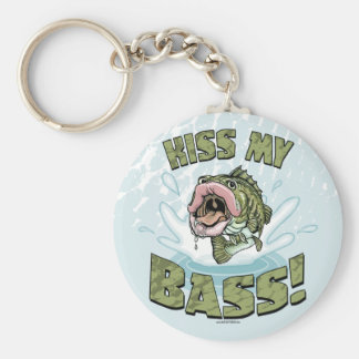 Kiss My Bass Big Mouth Fish Gear Keychain