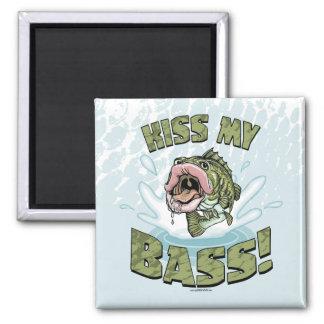 Kiss My Bass Big Mouth Fish Gear Magnet