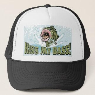 Kiss My Bass Big Mouth Fish Gear Trucker Hat