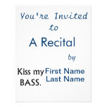 Kiss My bass black text Personalized Announcements