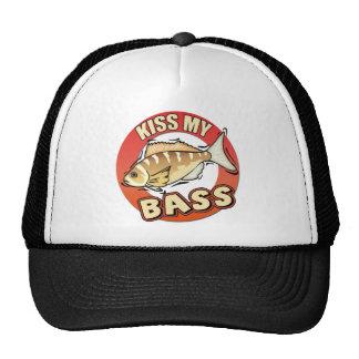 Kiss My Bass Fishing T-shirts Gifts Trucker Hat