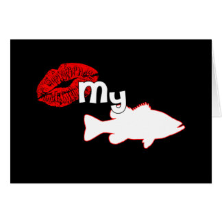 Kiss my Bass - funny bass fishing Stationery Note Card