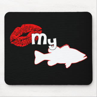 Kiss my Bass - funny bass fishing Mouse Pad