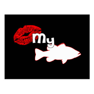 Kiss my Bass - funny bass fishing Postcard