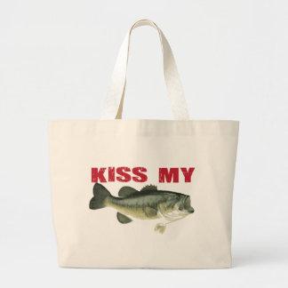 Kiss My Bass Large Tote Bag