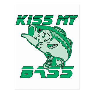 Kiss My Bass Postcard