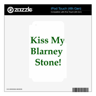 Kiss My Blarney Stone Decal For iPod Touch 4G