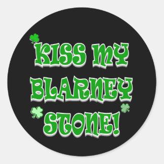 Kiss My Blarney Stone Irish Apparel and Gifts Classic Round Sticker