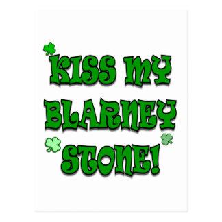 Kiss My Blarney Stone Irish Apparel and Gifts Postcard