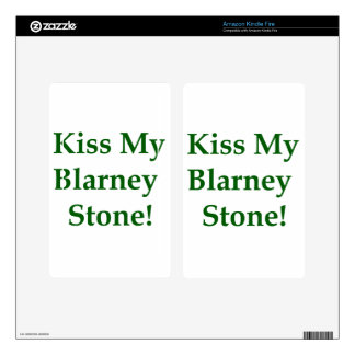 Kiss My Blarney Stone Kindle Fire Decals