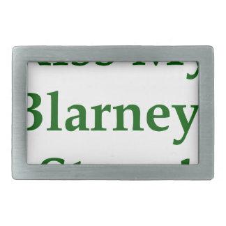 Kiss My Blarney Stone Rectangular Belt Buckle