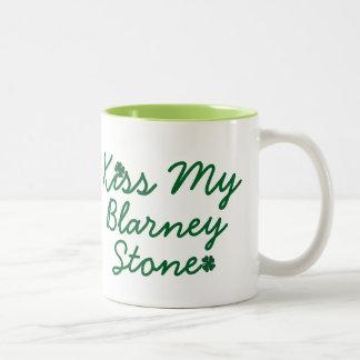 Kiss My Blarney Stone Two-Tone Coffee Mug