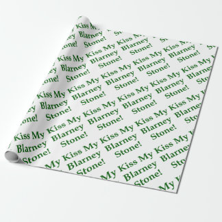 Kiss My Blarney Stone Wrapping Paper