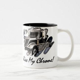 Kiss My Chrome! Two-Tone Coffee Mug
