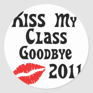 Kiss My Class Goodbye 2011 Classic Round Sticker