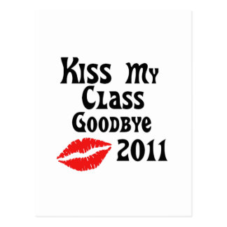 Kiss My Class Goodbye 2011 Postcard