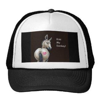 kiss my donkey cap trucker hat