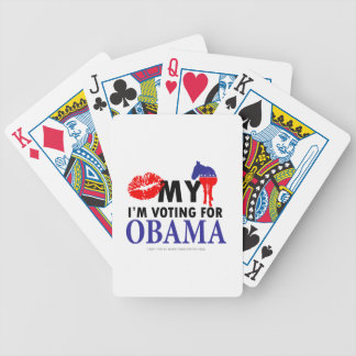 Kiss My Donkey, Im Voting for Obama Bicycle Playing Cards