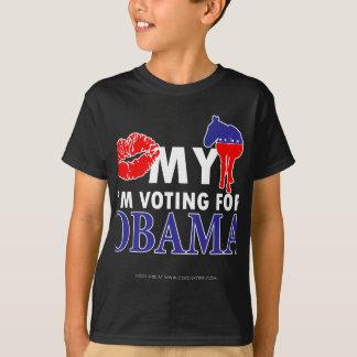 Kiss My Donkey, Im Voting for Obama T-Shirt