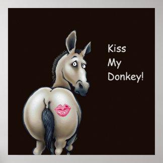 kiss my donkey poster