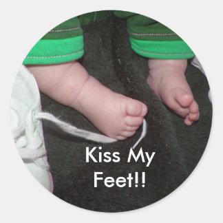 Kiss My Feet!! Classic Round Sticker