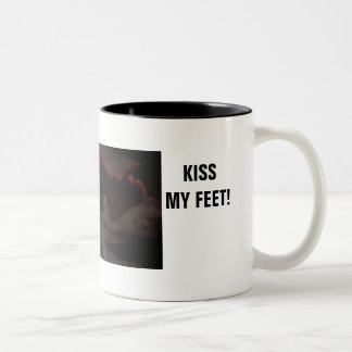 KISS MY FEET! Two-Tone COFFEE MUG