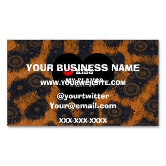 Kiss My Flavor Vape Cheetah Business Card Magnet