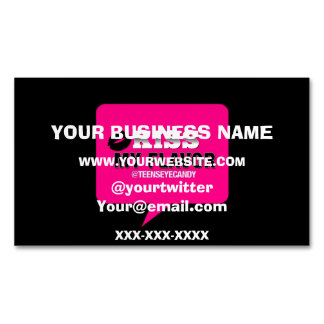 Kiss My Flavor Vape Pink Magnetic Business Card