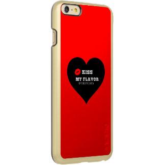 Kiss My Flavor Vape  Red Black Heart Incipio Feather® Shine iPhone 6 Plus Case