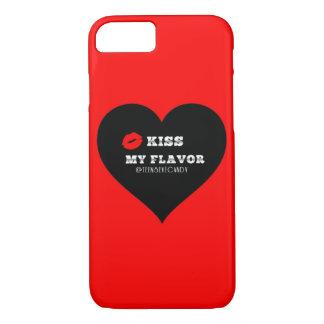 Kiss My Flavor Vape  Red Black Heart iPhone 7 Case