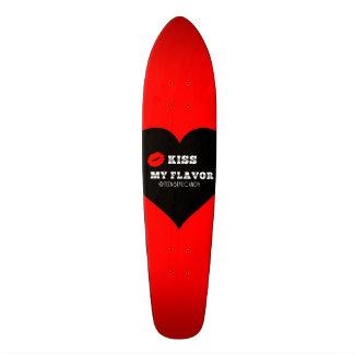 Kiss My Flavor Vape  Red Black Heart Skateboard