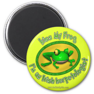 Kiss My Frog... 2 Inch Round Magnet