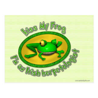 Kiss My Frog... Postcard
