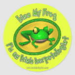 Kiss My Frog... Round Stickers