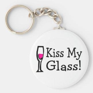 Kiss My Glass Keychain