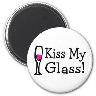 Kiss My Glass Fridge Magnets