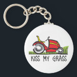 "KISS MY GRASS KEYCHAIN<br><div class=""desc"">Show your pride for your mowing business.  It&#226;€™s the perfect advertisement.  Everyone will love them!</div>"
