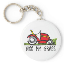 KISS MY GRASS KEYCHAIN