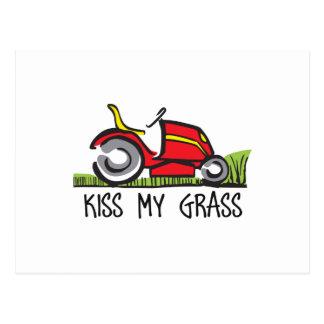 KISS MY GRASS POSTCARD