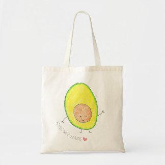 Kiss My Hass,  Cute Avocado Tote Bag