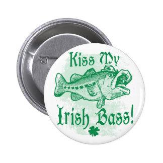 Kiss My Irish Bass Gear Pinback Button