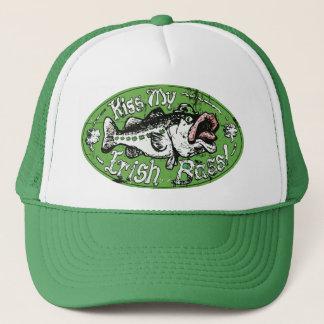 Kiss My Irish Bass Oval Trucker Hat
