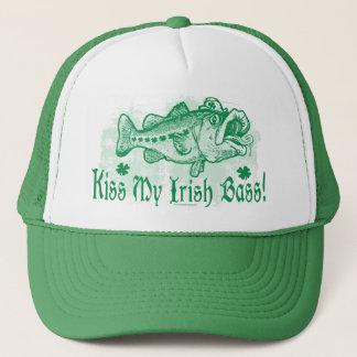 Kiss My Irish Bass Trucker Hat