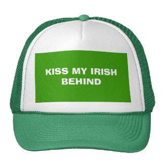 KISS MY IRISH BEHIND TRUCKER HAT