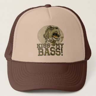 Kiss My Largemouth Bass by Mudge Studios Trucker Hat