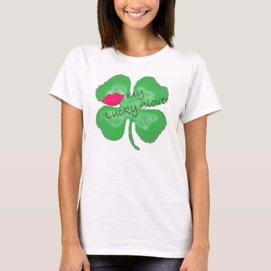 Kiss my Lucky Clover lady's shirt