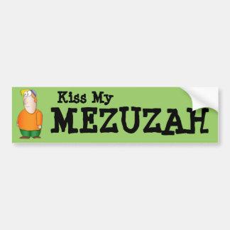 Kiss my Mezuzah Bumper sticker